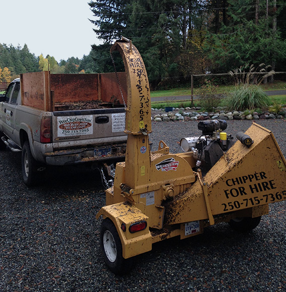 wood splitters Chipper For Hire