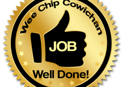 Wee Chip Cowichan - Customer Voted - Job Well Done Award