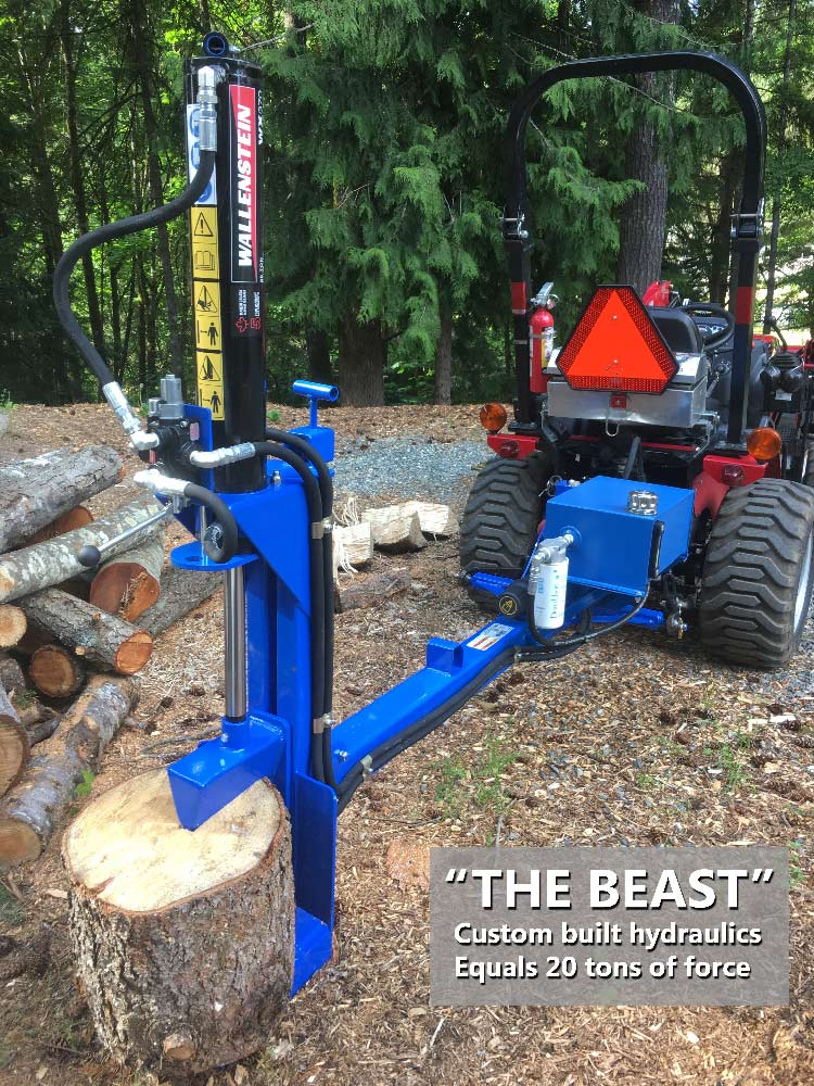 Wee Chip Cowichan The Beast Wood Pile and Log Splitting Services